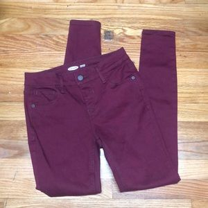 Old navy skinny jeans maroon size 2